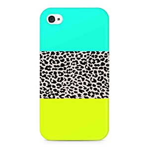 Flauntinstyle tri pattern Hard Back Case Cover For Apple iPhone 4 4s