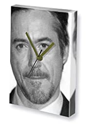 ROBERT DOWNEY JR. - Canvas Clock (A5 - Signed by the Artist) #js003