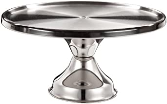 "Adcraft CS-13 13-1/2"" Diameter x 7-1/2"" Height, Mirror Finish, Stainless Steel Cake Stand"