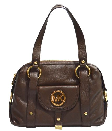 Michael Kors Leather Fulton Large Satchel Tote Shoulder Bag Handbag Mocha