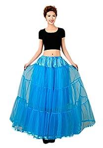 Honeystore 1950's Knöchellänge Vintage Rockabilly Petticoat Retro Ballett Tutu Reifrock Unterrock Underskirt Braut Party Hochzeit HALLOWEEN FASCHING KARNEVAL