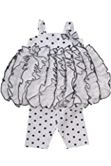 Kate Mack Baby-Girl's Infant Monte Carlo Tunic & Legging in White