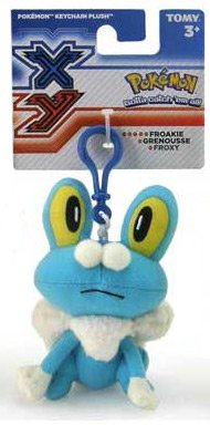 "Pokemon XY 4"" Clip-On Plush Froakie - 1"