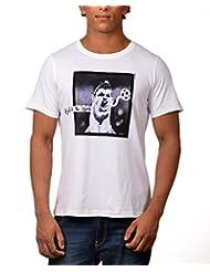 Kuroki Ronaldo- Mens White Colour Round Neck Tshirts - By Nirvana