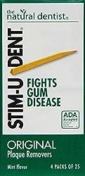 Natural Dentist Stimudent Plaque Removers Mint 100 Count
