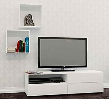 3-Pc Eco-Friendly Entertainment Set in White