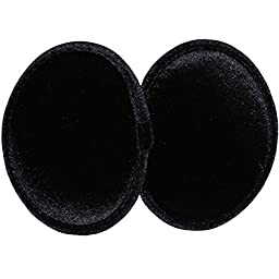 Ear Mitts Black Velvet Bandless Ear Muffs, Black Small