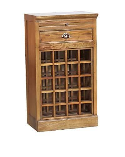 Jeffan Napa Wine Cabinet with Pull-Out Tray, Natural