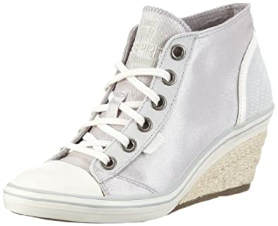 esprit womens lexa lu wedge hi top sneakers beige beige. Black Bedroom Furniture Sets. Home Design Ideas