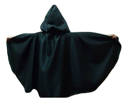 "Merlins Medieval Closet Longer Cloak 50"" Dark Green"