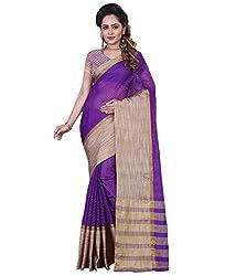 Sanju Smart Purple Color Cotton Silk Saree