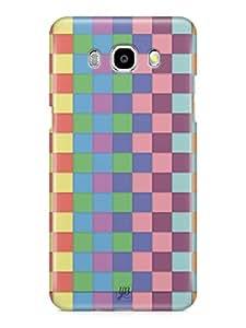 YuBingo Colourful Square Patterns Mobile Case Back Cover for Samsung Galaxy J7 2016