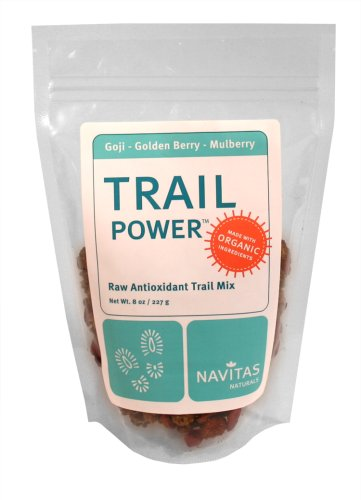 Buy Navitas Naturals Trail Power Organic Goji, Mulberry And Incan Golden Berry Trail Mix, 8-Ounce Bags (Pack of 2) (Navitas Naturals, Health & Personal Care, Products, Food & Snacks, Snacks Cookies & Candy, Snack Food, Trail Mix)