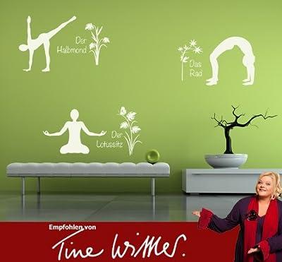 Wandtattoo Yoga Figuren Set 4