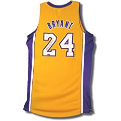 Kobe Bryant Hand Signed Autographed Los Angeles Lakers Yellow Gold Home Jersey #24...