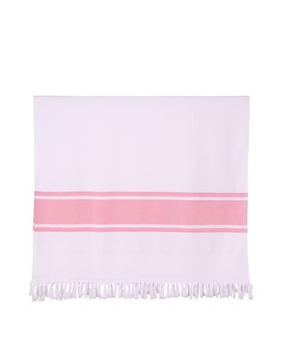 Nine Space Ayrika Collection Extra-Soft Terry Fouta Towel, Red