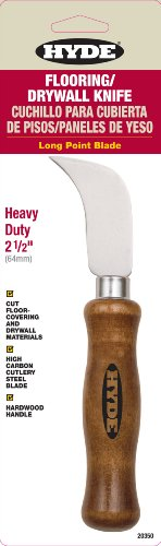 Hyde Tools 20350 2-1/2-Inch Flooring and Drywall Long Point Knife