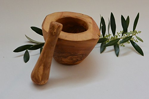 Classic Mortar and Pestle - 10 cm Olive Wood