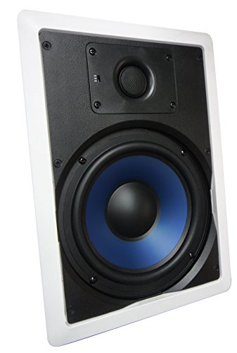 "82W Silver Ticket 8"" 120-Watt 2-Way In-Wall Speaker With Pivoting Tweeter (1 Speaker, White)"
