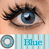 処方箋不要 princess color カラー コンタクト レンズ 1箱2枚入 1ヶ月交換 度なし ブルー ランキングお取り寄せ