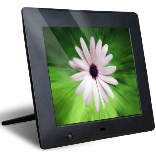 NIX 8 Inch Hu-Motion Digital Photo Frame - X08C. Motion Sensor turns frame ON/OFF automatically when it senses you nearby. Hi-Res 800 x 600 pixels