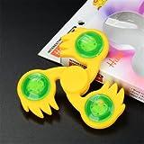 Generic ECUBEE LED Lighting EDC Fidget Hand Spinner Gadget Spinner Finger Focus Reduce Stress Gadget-yellow