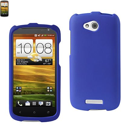 Click to buy Reiko RPC10-HTCONEVXNV Premium Rubberized Sleek Protective Case for HTC One VX - 1 Pack - Retail Packaging - Navy - From only $29.99