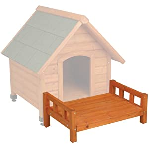 Ware Manufacturing Fir Wood Premium Plus A-Frame Doghouse Patio, Small
