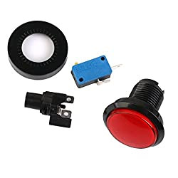 Generic MagiDeal Plastic LED Round Push Button with Micro Switch for Arcade Games