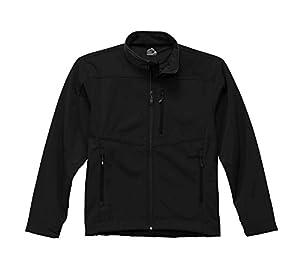 Storm Creek Men's Sean Velvet Lined Performance Softshell Jacket, Black/Black, 2X