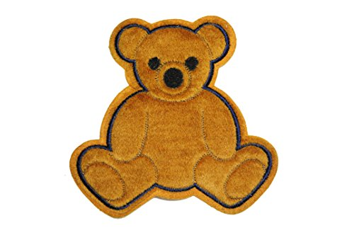 "Big Save! Altotux 6.5""x 6.5"" Cute Brown Furry Fuzzy Teddy Bear Sew On Applique Motif Patch"