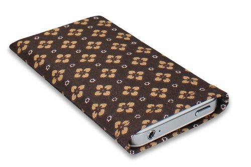 Janney [m]BAG chic Handytasche Hülle aus Stoff für dein Anycool Enjoy W02 mit Display Reinigungsfunktion durch Microfaserinnenfutter