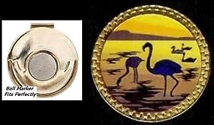 Gatormade Novelty Golf Ball Marker & Magnetic Hat Clip Flamingo
