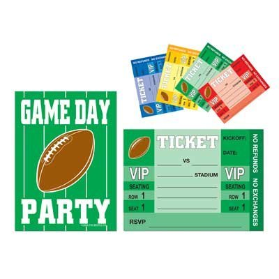 Game Day Football Invitations (envelopes included)