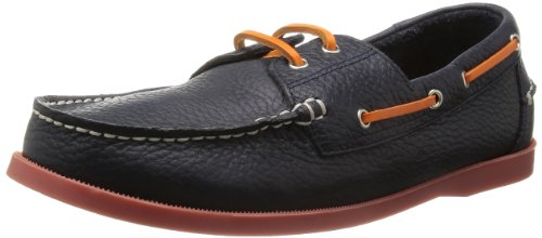 [ゴールデンレトリバー] GOLDEN RETRIVER MENS DECK SHOES 8024 NAVY SHRINK/ORG(NAVY SHRINK/ORG/26)