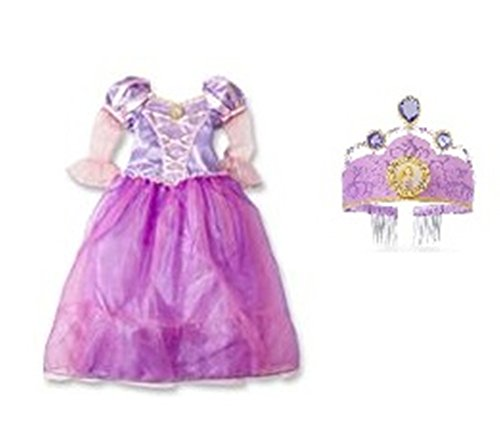 Disney Rapunzel Costume Dress & Tiara Set ~ size 4