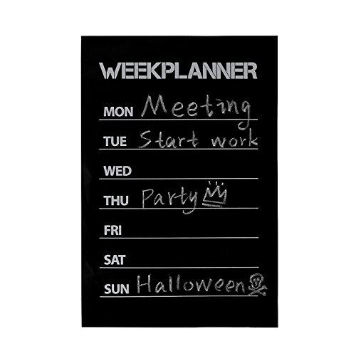 Weekly Planner Blackboard Wall Decals W 1pc Chalk Planning