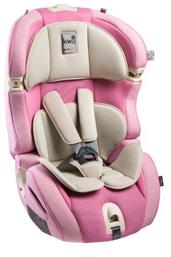 Kiwy - 14103KW07B - Seggiolino auto per bambini - Gruppo 1, 2, 3 - SLF123 Q-Fix - ECE R44/04 - Candy, Viola (Candy),