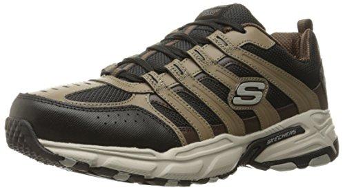 Skechers Sport Men's Stamina PlusRappel Oxford Sneaker, Brown/Black, 12 M US