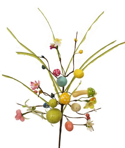 купить Renaissance 2000 Decorative Egg and Mushroom Spring Spray, 20-Inch дешево