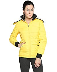 Campus Sutra Cotton Women's Bomber Jackets (AW15_JK_W_P1_YE_L_Yellow_Large)