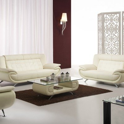 Cool Bestprice Curve Leather Sofa And Loveseat Set In White Spiritservingveterans Wood Chair Design Ideas Spiritservingveteransorg