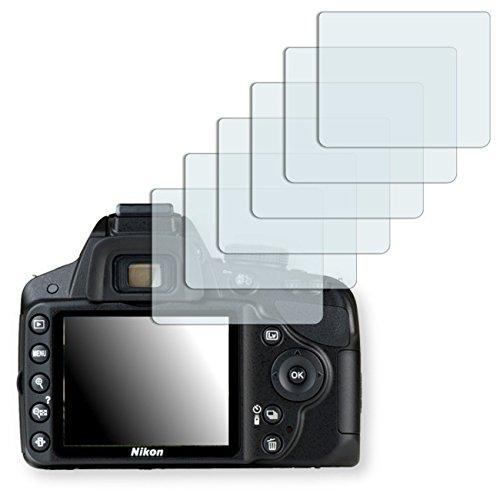 6 x Ultra Clear Displayschutzfolie für Nikon D3200
