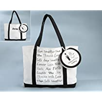 Welcome to Our Wedding Canvas Tote Bag (Can be Personalized) - Baby Shower Gifts & Wedding Favors