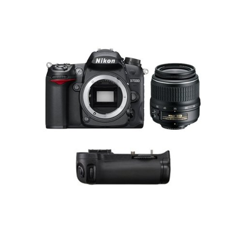 D7000 Reflex Numerique + Objectif AF-SDX 18-55mm 3,5-5,6G VR GARANTI 4 ans + Grip MBD11