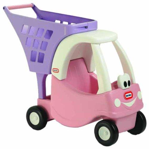Little Tikes Cozy Shopping Cart Pink/Purple JungleDealsBlog.com