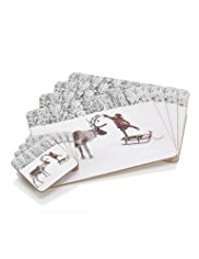 4 Stag Placemats & Coasters Set