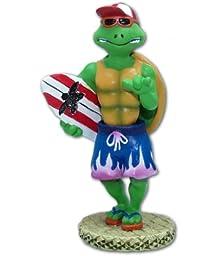 Hawaiian Miniature Dashboard Doll Turtle With Surfboard