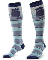 Doctor Who Knee Tardis Stripe Knee High Socks, Shoe size 4-10
