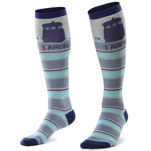 Doctor Who Knee Tardis Stripe Knee High Socks